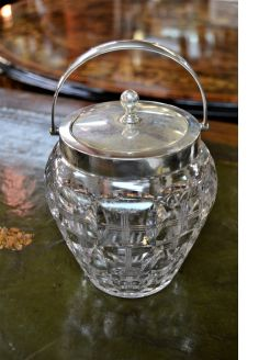 Silver top biscuit barrel