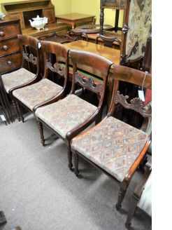 Set of four 19th century chairs