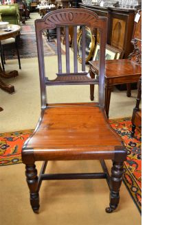 Victorian mahogany hall chair