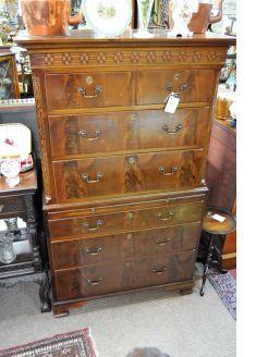 Large mahogany chest