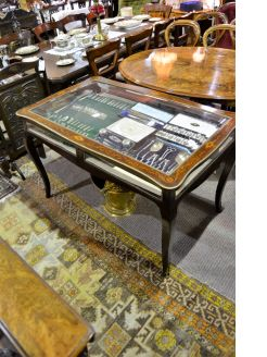 Rosewood inlaid display table
