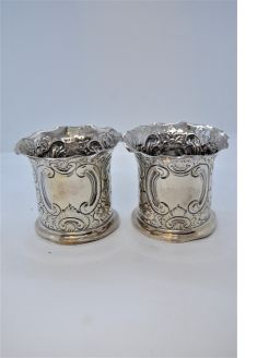 Pair of silver pots