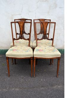 Edwardian set of four chairs