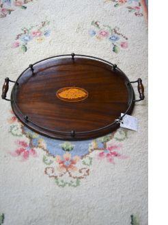 Edwardian mahogany tray