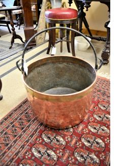 Large copper bin