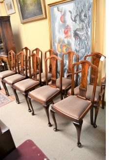 Set of ten mahogany chairs