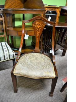 Edwardian mahogany low chair