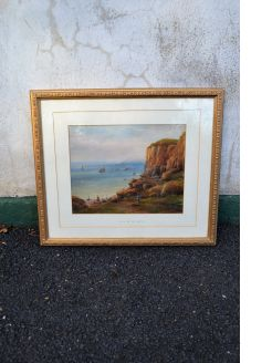 Gilt framed watercolour signed