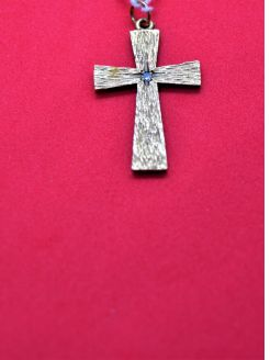 9ct gold & diamond cross