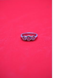 18ct three stone diamond ring