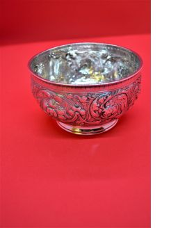 Victorian silver bowl