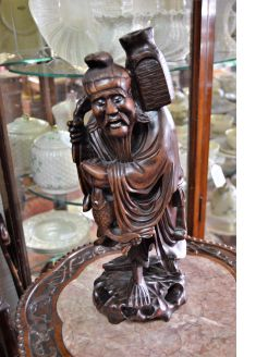 Chinese hardwood figure