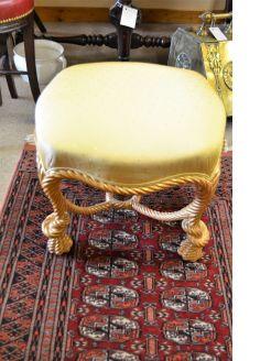 Giltwood stool
