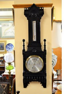 Ebonized oak barometer