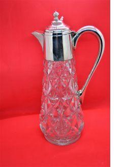 Silver top claret jug