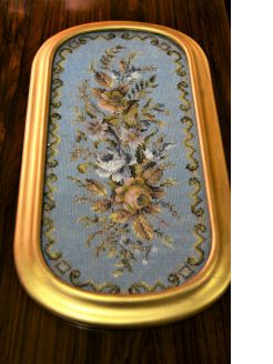 Gilt framed victorian beadwork