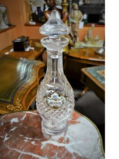 Waterford decanter with label