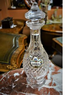 Waterford decanter with vodka label