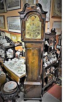 18th century mahogany cased grandfather clock