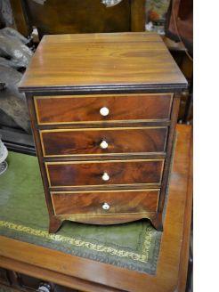 Mahogany miniture chest