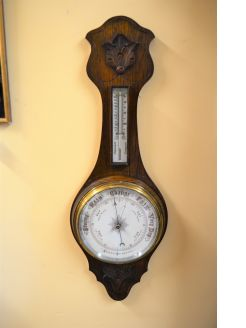Oak cased barometer