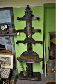 Victorian carved hall stand