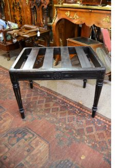 Victorian ebonized luggage stand