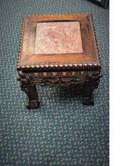 Miniature Chinese hardwood stand