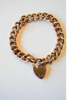 9ct gold curb link bracelet
