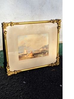 19th century gilt watercolour