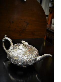 Victorian silver tea pot