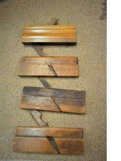 Selection of old carpenters planes
