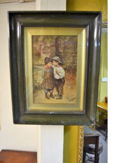 Framed victorian print