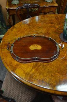 Edwardian mahogany gallery tray