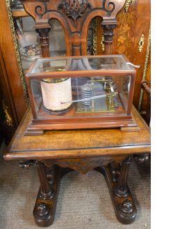 Mahogany cased barograph
