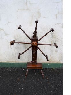 19th century mahogany wool winder