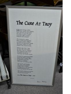 Seamus heaney framed poem on irish linen