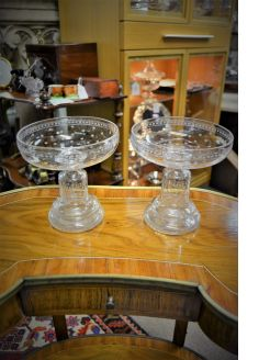 Pair of victorian compotes