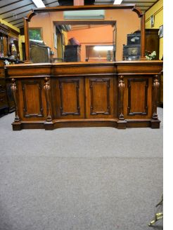 Victorian carved oak mirror back sideboard