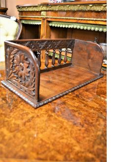 Victorian carved oak bookstand