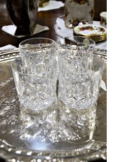Four waterford glasses