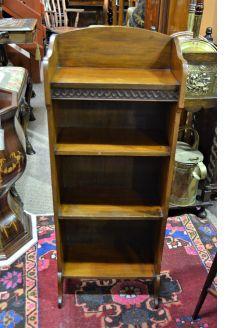 Mahogany floor bookcase