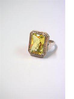 18ct gold citrine ring