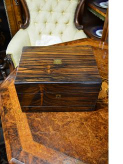Victorian coramandle wood box