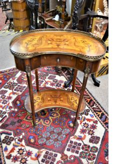 Mahogany inlaid occasional table