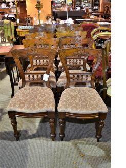 Set of ten victorian mahogany chairs
