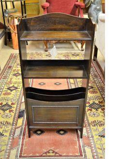 1920s oak floor bookcase