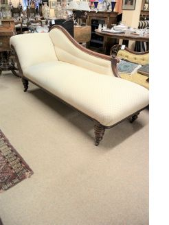 Chaise lounge mahogany couch