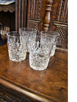 Set of four waterford glasses