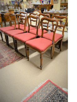 Set of eight victorian rosewood chairs